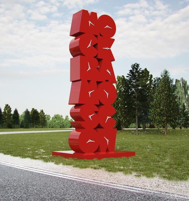 Въездной знак для Москвы: Проект Михаила Губергрица — М.Город на The Village