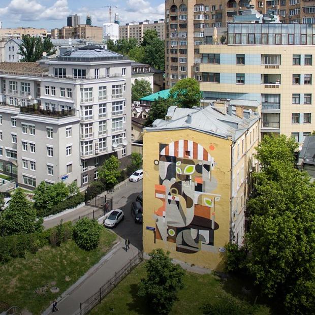 Лучшие московские граффити с высоты птичьего полёта — Фоторепортаж на The Village