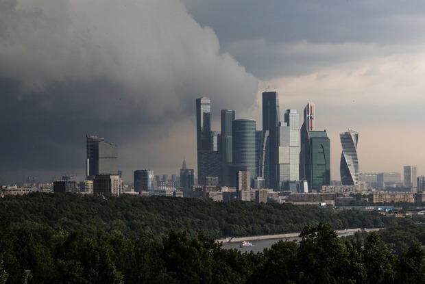 Грозовой ливень в Москве
