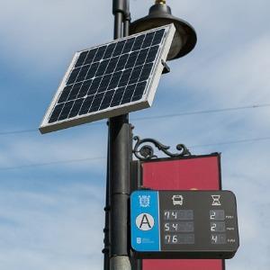 Как работают транспортные табло на солнечных батареях — Город на The Village