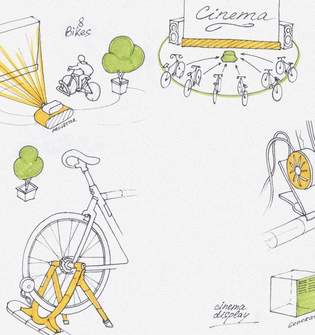 Идеи для города: Велосипедные кинотеатры в Великобритании — Иностранный опыт на The Village