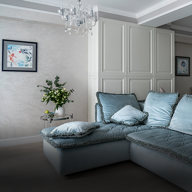 «Легкое дыхание»: Перламутровая квартира в Сочи недалеко от моря