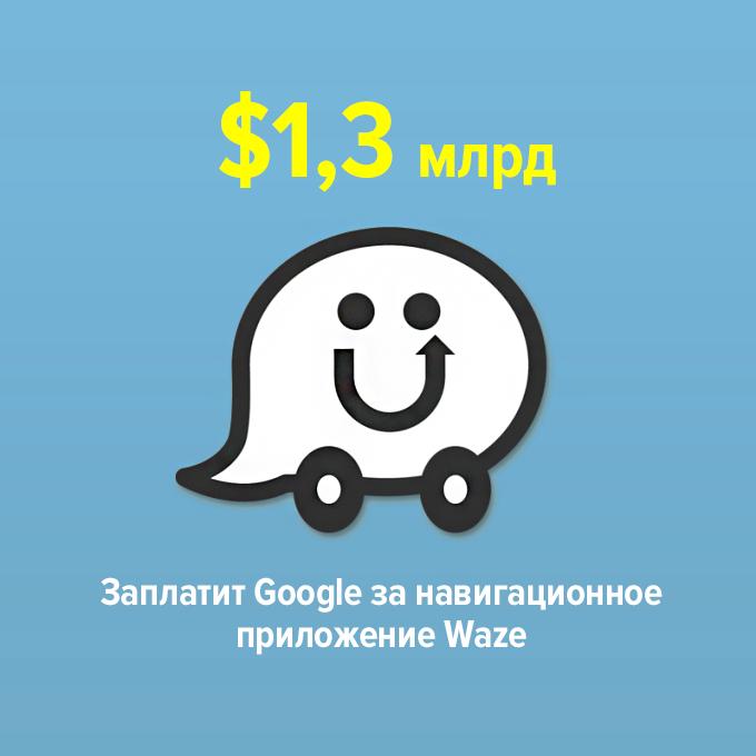 ...заплатит Google за навигационное приложение Waze — Цифра дня на The Village