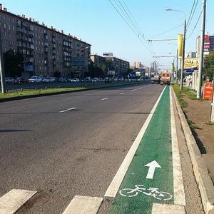 У метро «Университет» появились первые велополосы — Ситуация на The Village