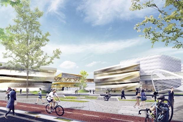 Скалодром, речные каналы и воздушные галереи: Как будет выглядеть первый IT-городок в Екатеринбурге  — Архитектура на The Village