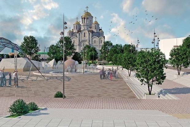 Крытый скейт-парк и мост через Исеть: Как изменится набережная с храмом у Театра драмы — Архитектура на The Village