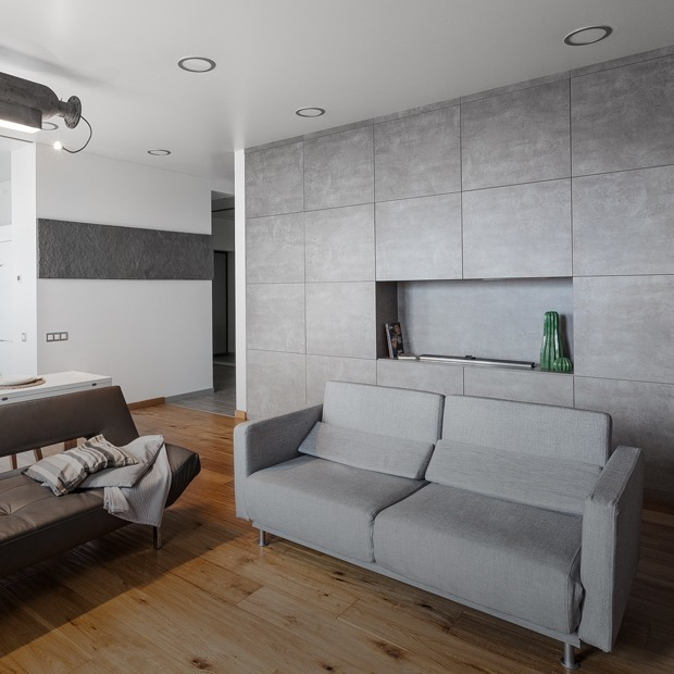 Монохромная квартира-шкаф с тайной комнатой — Квартира недели на The Village