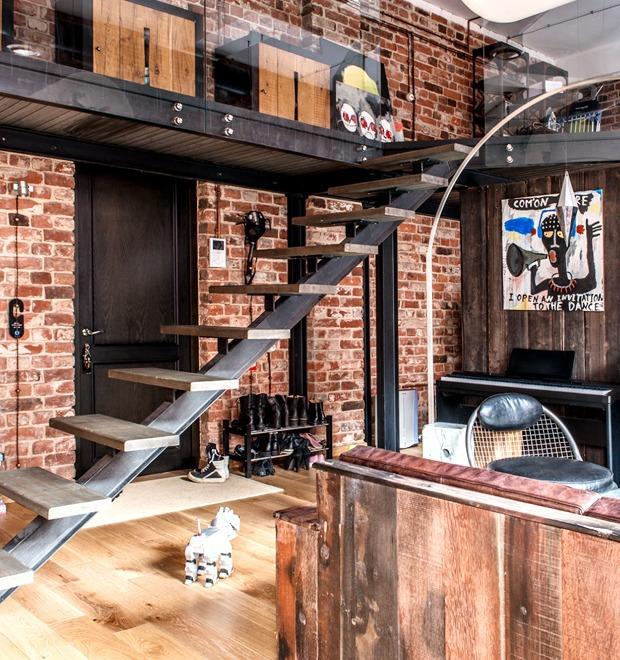 Интерьер недели (Москва): Жилой лофт на «Даниловской мануфактуре» — Дом на The Village