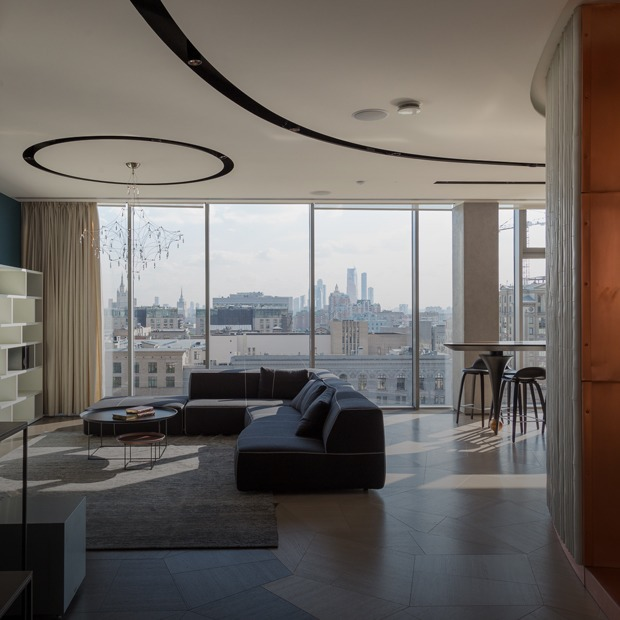 Квартира-трансформер с панорамным видом на центр Москвы — Квартира недели на The Village