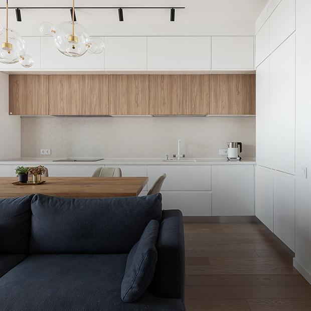 Квартира недели. Функциональность и минимализм в квартире посреди соснового бора под Челябинском