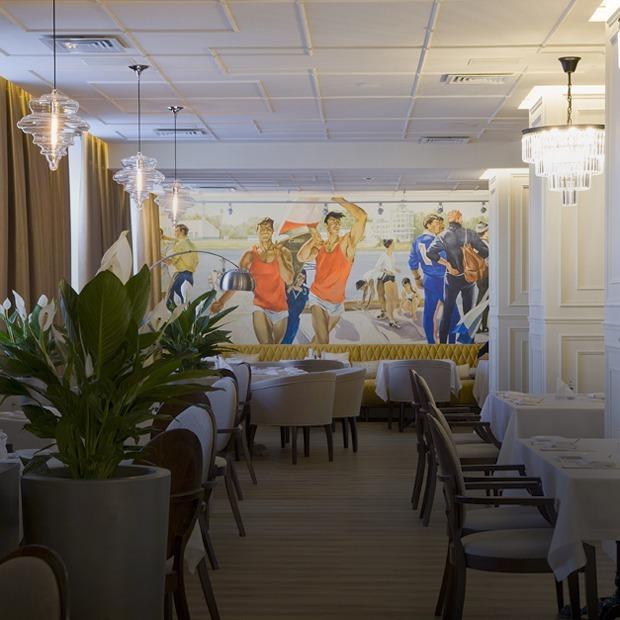 Ресторан «Дубровин» в Центральной гостинице, отсылающий к советскому Свердловску