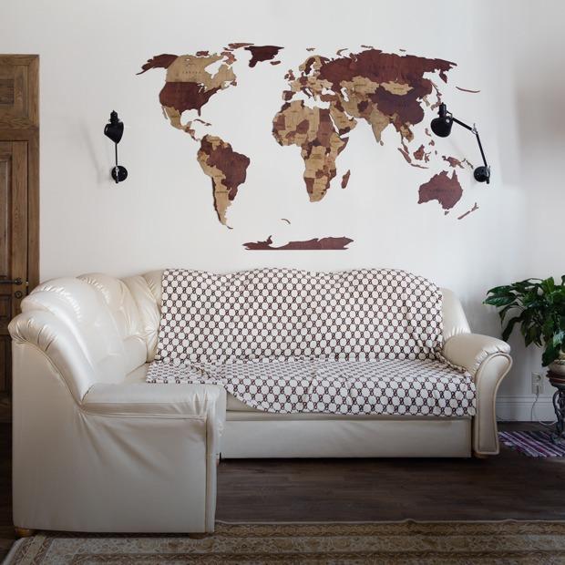 Интерьер с кирпичной стеной и дубовой мебелью в сталинке у Смольного (Петербург) — Квартира недели на The Village