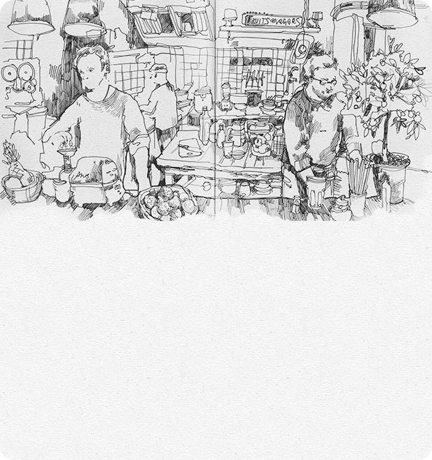 Кафе Fruits & Veges — Клуб рисовальщиков на The Village