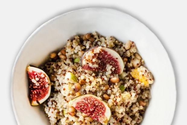 Салат с киноа, инжиром и горчицей   — Рецепты шефов на The Village