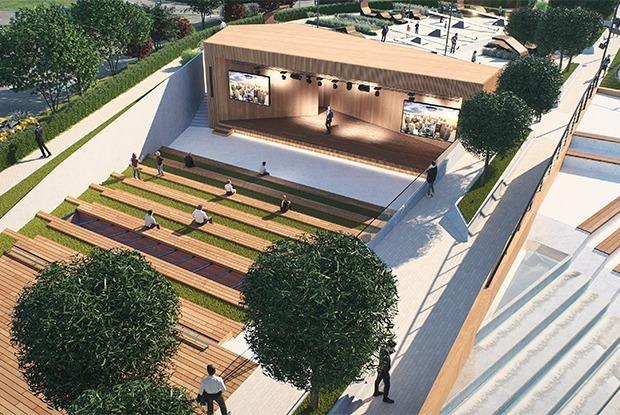 Площадки для воркаута и фонтан: Как будет выглядеть новое общественное пространство у «Меги» — Архитектура на The Village