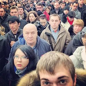 Коллапс в московском метро в снимках Instagram — Ситуация на The Village