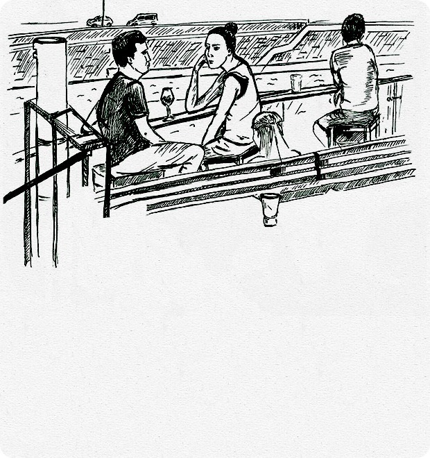 Клуб рисовальщиков: Бар «Стрелка» — Клуб рисовальщиков на The Village