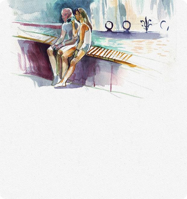 Клуб Рисовальщиков: Украинский бульвар и Киевский вокзал — Клуб рисовальщиков на The Village