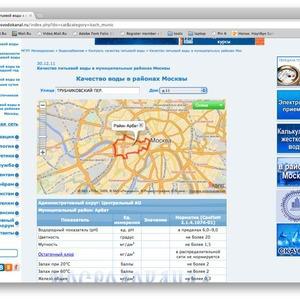 Качество московской воды теперь можно проверить онлайн — Сервис на The Village
