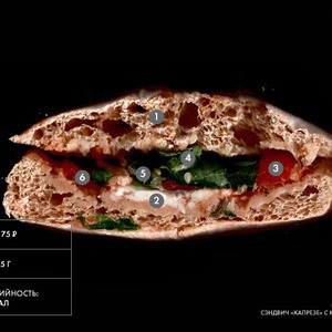 Составные части: Сэндвич «Капрезе» с моцареллой из Costa Coffee — Составные части на The Village