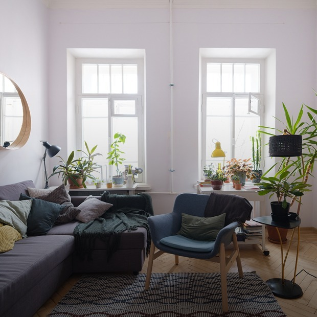 Скандинавский стиль и 38 растений в двушке в одном из самых красивых домов Петербурга  — Съемная квартира на The Village