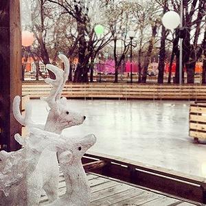 Первые Instagram-снимки катка в парке Горького — Галереи на The Village