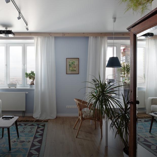 Скандинавская квартира-студия с винтажным шкафом — Квартира недели на The Village
