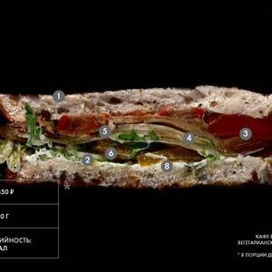 Составные части: Вегетарианский сэндвич из Black Market — Составные части на The Village