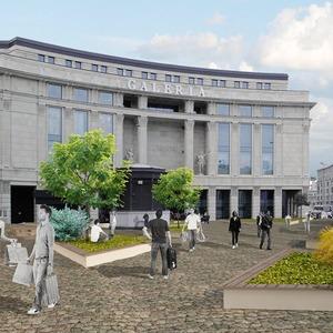 Перестройка: Проект площади перед «Галереей»