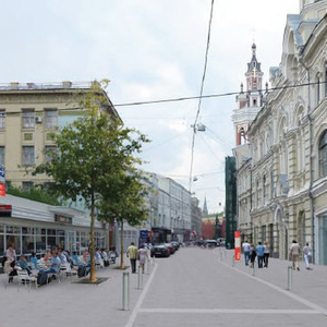 Началось обустройство пешеходной зоны на Кузнецком мосту — Город на The Village