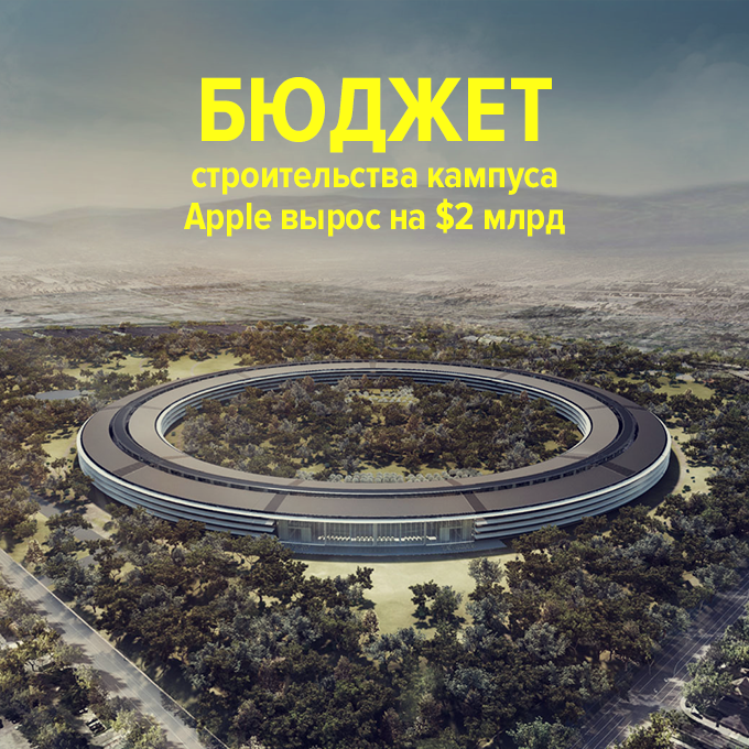 Бюджет строительства кампуса Apple вырос на $2 млрд — Провал дня на The Village