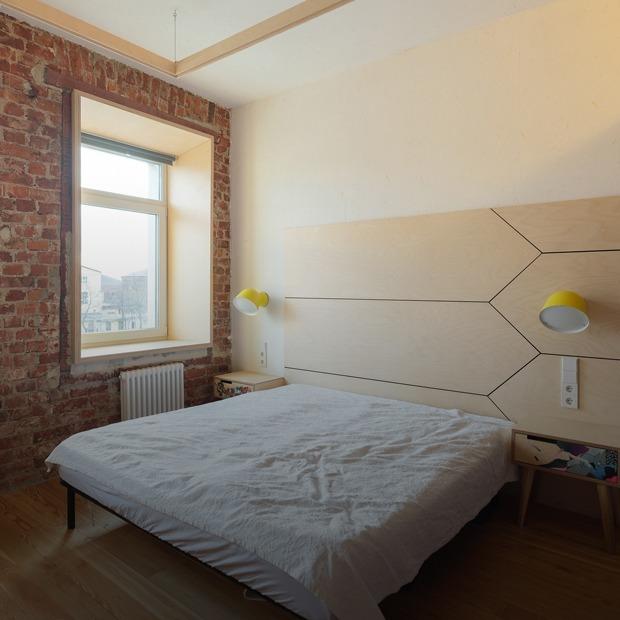 Квартира с интерьером из фанеры на Обводном канале — Квартира недели на The Village
