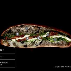 Составные части: Сэндвич с томатом и моцареллой из Paul — Составные части на The Village