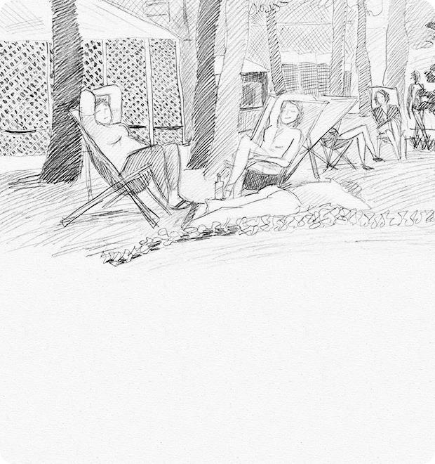 Клуб рисовальщиков: Сад «Эрмитаж» — Клуб рисовальщиков на The Village