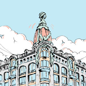 Зависит ли подсветка купола дома «Зингер» от настроения Дурова? — Есть вопрос на The Village