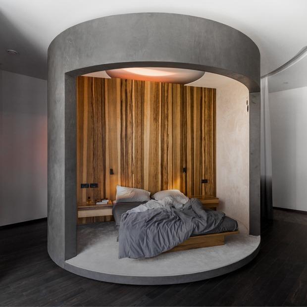 Студия на «Белорусской» с вращающейся комнатой-цилиндром — Квартира недели на The Village