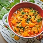 Суп из тыквы и красной чечевицы