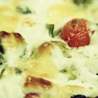 Гратен из капусты и томатов с творогом и сыром