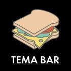 Составные части: Тёплый сэндвич с окороком и сыром из Tema Bar