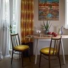 Двухкомнатная квартира в хрущевке в современном советском стиле