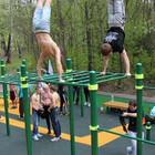 Московские парки оборудуют спортивными площадками с тренажёрами