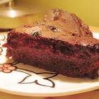Шоколадно-маковый бисквит с ягодками