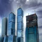 Из-за жары лопаются стекла Москва-Сити