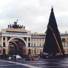 Фото дня: Искусственная ёлка на Дворцовой площади