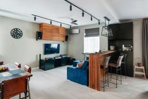 Минималистичная квартира для заядлого путешественника