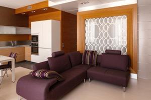Трёхкомнатная квартира со строгим интерьером
