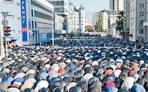 Фоторепортаж с мусульманского праздника Ураза-байрам в Москве