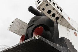 Разобранный «Буран» в парке Горького