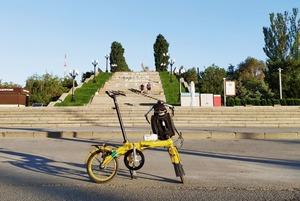 «Я проехал на складном велосипеде больше тысячи километров от Москвы до Волгограда»