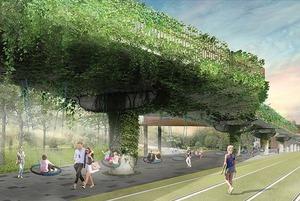 Почему бюро Wowhaus предлагает превратить московский монорельс в парк «Хай-Лайн»